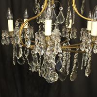 French Gilded & Crystal Birdcage 7 Light Antique Chandelier (2 of 10)