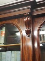 Victorian Mahogany Breakfront Cabinet Bookcase (13 of 19)