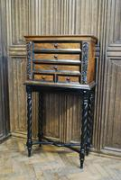 Walnut Collectors Cabinet on Stand (5 of 9)
