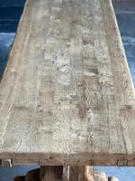 Superb Rustic Large Bleached Oak Farmhouse Table with Extensions (23 of 36)