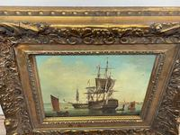 Seascape Oil Painting First Rate Man O War Ships Portsmouth Harbour Signed Brian Coole (36 of 39)