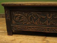 Continental Carved Oak Coffer, Blanket Box, Hall Storage Chest for shoes (2 of 13)