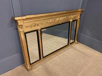 Regency Triple Plate Gilt Overmantle Mirror
