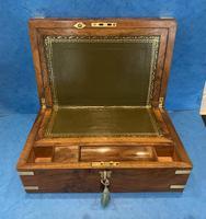 Victorian Brassbound Figured Walnut Writing Slope (10 of 18)