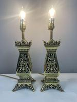 Pair Of Victorian Pierced Brass Table Lamps; Rewired And Pat Tested (4 of 10)
