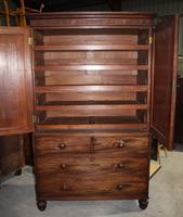 1890's Quality Mahogany Linen Press with Slides (3 of 5)