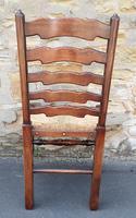 Set of 12 Oak Ladder Back Dining Chairs - Royal Oak Furniture (7 of 15)