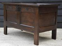 Handsome 17th Century Small Proportioned Oak Panelled Coffer c.1680 (3 of 13)