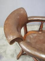 William IV Mahogany and Brown Leather Office Chair (7 of 7)