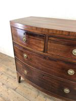 Georgian Mahogany Bow Front Chest of Drawers (11 of 16)
