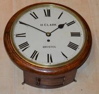 H Clark Bristol Fusee Dial Wall Clock