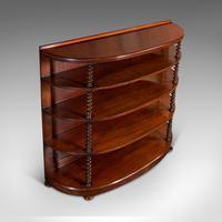 Antique Whatnot Bookshelf, English, Mahogany, Demi-lune, Bookcase, Victorian (7 of 12)