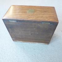 Oak Edwardian Style Writing Box (2 of 4)