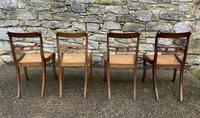 Set of 4 Regency Rosewood Sabre Leg Dining Chairs (9 of 15)
