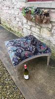 Large French Upholstered Lounge Stool c.1880 (3 of 7)