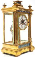 Antique French Table Regulator with Compensating Pendulum 8 Day 4 Glass Mantel Clock (6 of 12)