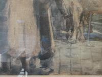 """Cattle Mart"" Watercolour by John Atkinson (4 of 8)"