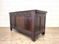 18th Century Antique Oak Panelled Coffer (9 of 12)