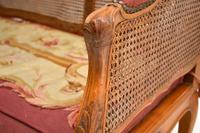 Antique French Carved Walnut Bergere Sofa (12 of 15)
