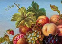 Original Vintage Still Life of Fruit & Flowers - 'Tom Caspers' 20thc British (5 of 12)