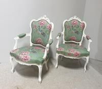 Wonderful Pair of French Painted Chairs (11 of 13)