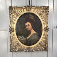 Antique Georgian Early Victorian Oil Painting Portrait of a Society Lady (2 of 10)
