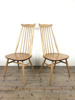 Pair of Ercol Blonde Elm Windsor Chairs (2 of 12)