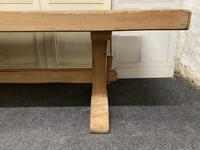 Large French Bleached Oak Farmhouse Dining Table (6 of 19)