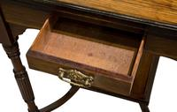 A Late Victorian Inlaid Rosewood Envelope Card Table (5 of 9)