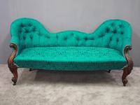 Victorian Mahogany Double Ended Sofa (2 of 9)