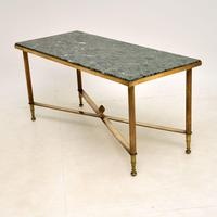 Vintage Brass & Marble Coffee  Table (3 of 9)