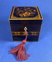 Victorian Rosewood Single Tea Caddy with Micro Mosaic Tunbridge Ware Inlay (7 of 11)
