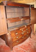1800's Dutch Mahogany Bombee Base Linen Press (6 of 6)
