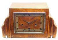 Fine Smiths Art Deco Mantel Clock Triple Chime 8 Day Westminster Chime Mantle Clock (2 of 10)