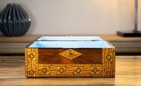 Figured Walnut Tunbridge Ware Box c.1880 (10 of 11)