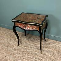 Small 19th Century Antique Boulle Work Table (6 of 9)