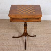 Rosewood Games Table Chess Board Folding Card Table 19th Century (6 of 16)