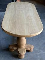 Large French Bleached Oak Monastery Dining Table (16 of 18)