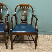 Elegant Pair of Edwardian Walnut Hepplewhite Design Antique Carver Chairs (7 of 7)