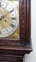 Early 18th Century Longcase Clock Fine English Oak  James Smith Grandfather Clock Brass Dial c.1720 (6 of 10)