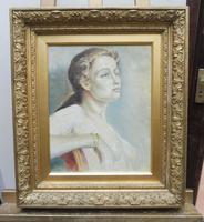 Oil on Canvas Portrait of Sarah Artist Peter Sanderson Mall Gallery Label Verso (10 of 10)