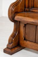 Pair of Victorian Carved Oak Pews (6 of 11)