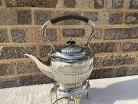 Edwardian Silver Plated Spirit Kettle (4 of 4)
