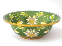 Fine Japanese Green Cloisonné Orchid Bowl (2 of 5)