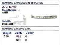 0.80ct Diamond & Platinum Full Eternity Ring - Vintage c.1960 (6 of 9)
