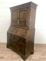 Antique 18th Century Welsh Oak Two Stage Bureau Cupboard (2 of 15)