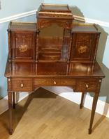 Victorian Mahogany And Inlaid Desk. (3 of 9)