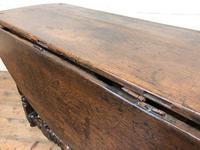 Antique Oak Drop Leaf Dining Table (13 of 13)