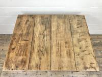 Antique Pine Farmhouse Kitchen Table with Oak Top (7 of 9)