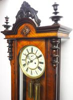 Superb Antique German Twin Walnut 8-Day Mantel Clock Vienna Striking Wall Clock (7 of 10)